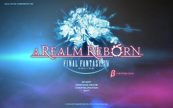 Final Fantasy XIV A Realm Reborn Start Screen
