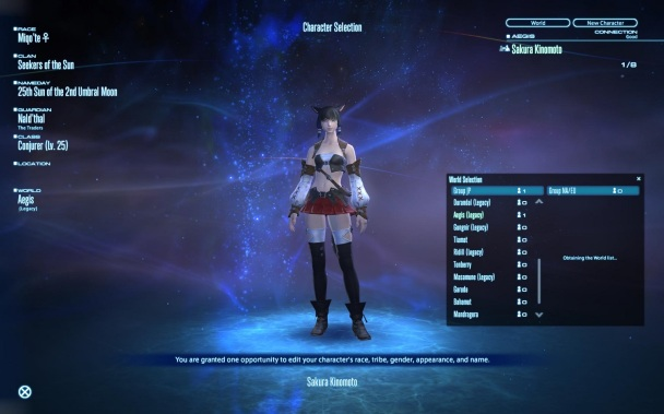 Final Fantasy XIV: A Realm Reborn - NA/EU worlds are missing