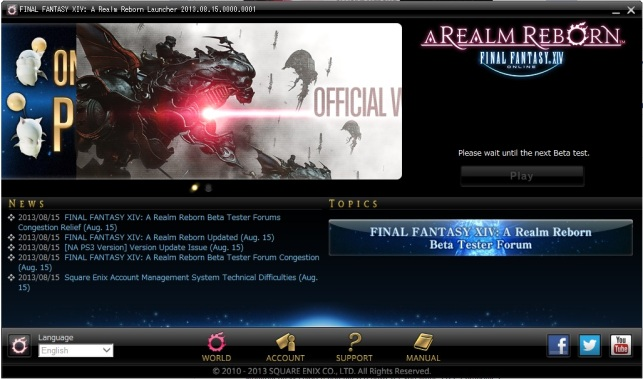 Final Fantasy XIV A Realm Reborn - Downloading patches is complete